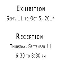 atelier exhibit sept 11 to oct 5 2014